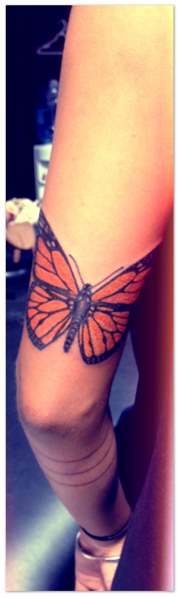 My new monarch tattoo