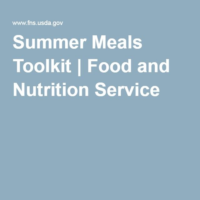 Summer Meals Toolkit | Food and Nutrition Service