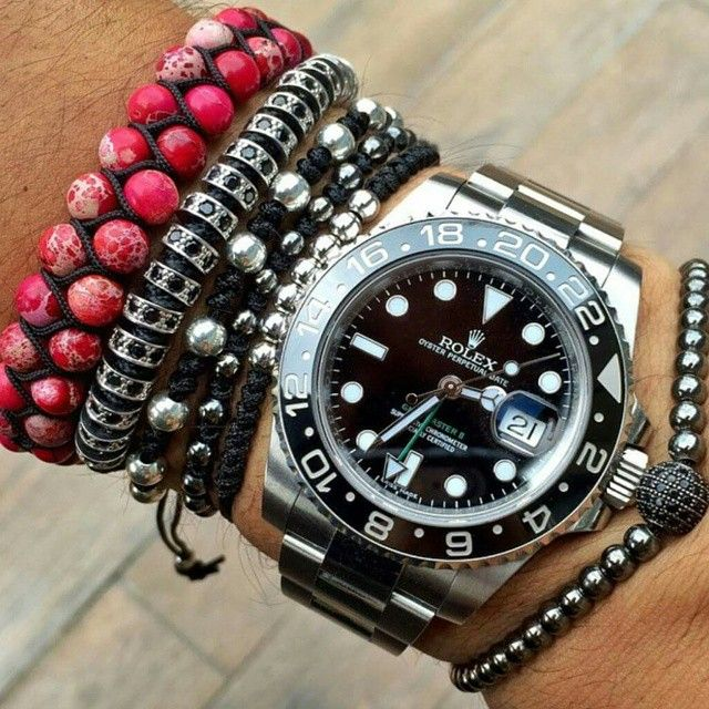 "Wrist Porn ""Rolex Gmt Master 2 with Bracelers from AtolyeStone"" @watchluxus  #rolex #gmt #atolyestone #watch #menstyle #luxery #luxerious #wealthy #lifestyle #goodlife #wealth #style #affluence #succes #ambition #wealthstyle #millionaire #instagood"