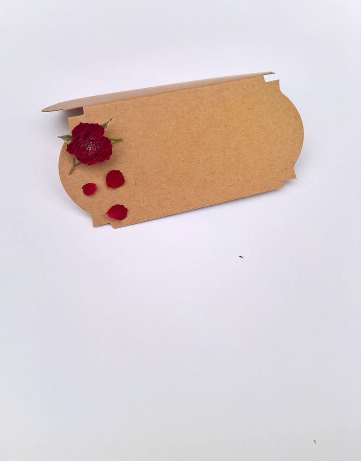 Red Rose Name Place Cards (Pack of 10), dried flowers, wedding place setting, wedding favour, name cards, beauty and beast, kraft, flowers by BellaPoppyFlowerArt on Etsy