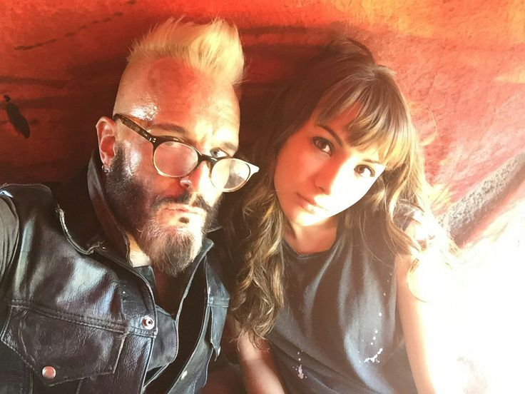 Michael Eklund and Hannah Marks #bts Dirk Gently's Holistic Detective Agency