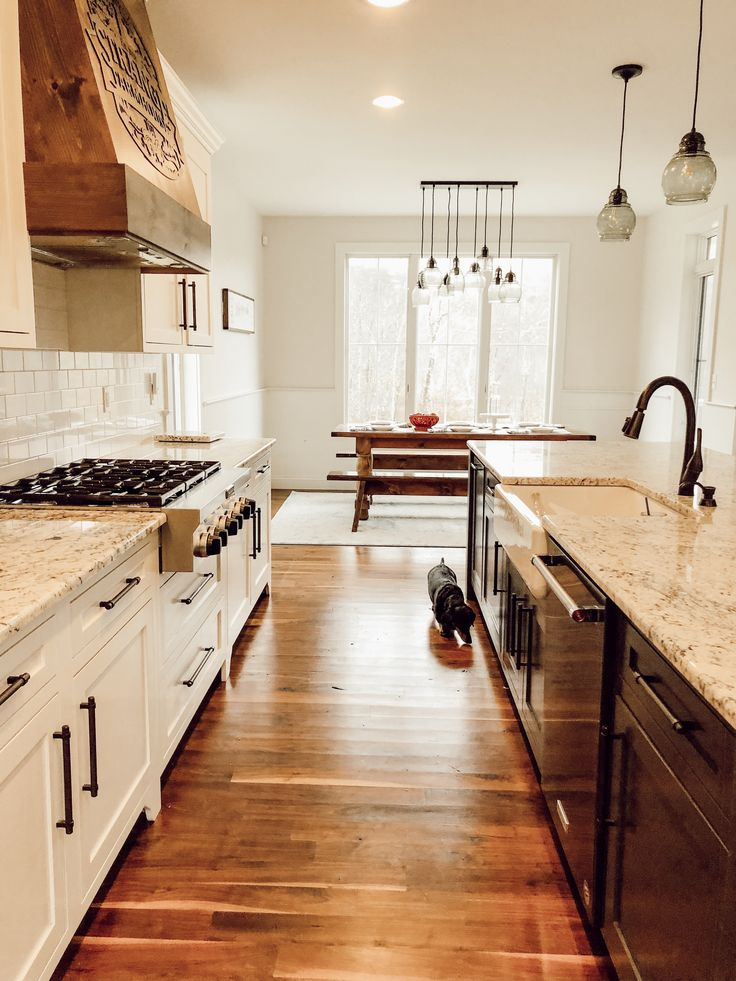 Strange Farmhouse lighting | White ice granite, Granite ... on Kitchen Farmhouse Granite Countertops  id=37435