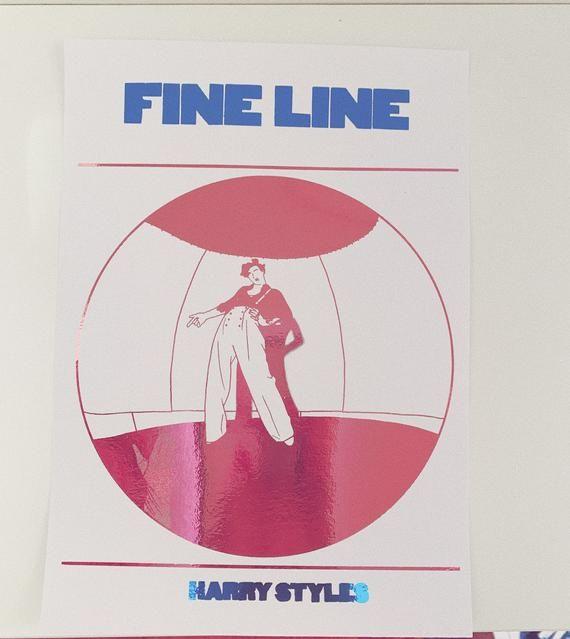 Fine Line Harry Styles Foil Print Etsy Harry Styles Drawing Harry Styles Album Cover Harry Styles Wallpaper