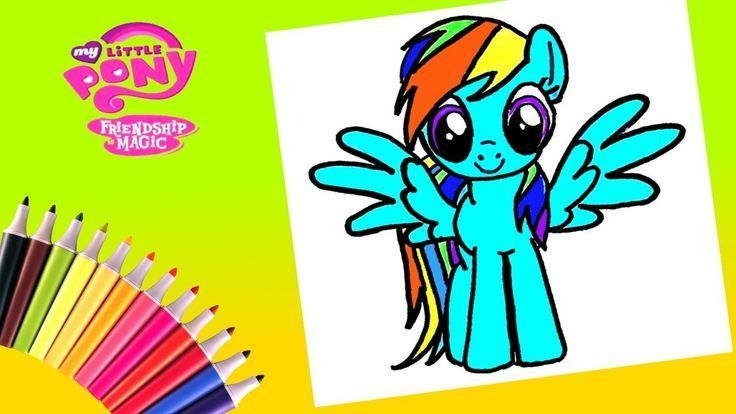 My Little Pony Rainbow Dash Coloring Page Coloring Dash Page