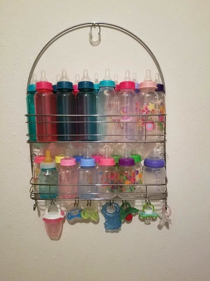 Baby bottle storage!! ... And pacifier organization
