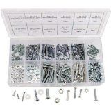 347pc Home Nut, Bolt, Screw & Washer Assortment - All Phillips Head!