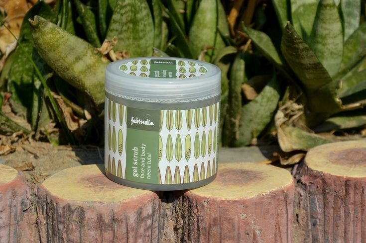 FabIndia's Neem and Tulsi Face and Body Gel Scrub's Review – AARUSHI JAIN | A Beauty, Fashion & Lifestyle blog
