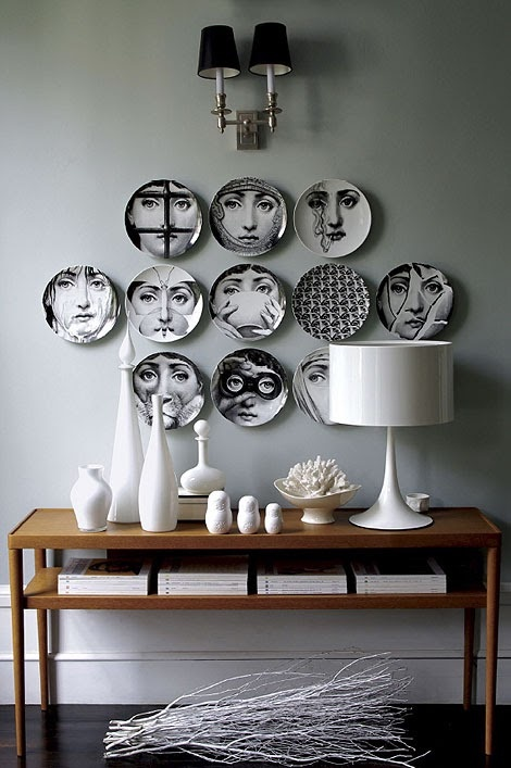 Face plates: Fornasetti: Wall Art, Wall Decor, Decor Ideas, Interiors Design, Piero Fornasetti, House, Wall Plates, Plates Wall, Fornasetti Plates