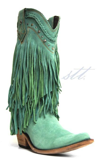 Liberty Black Women S Turquoise Bovine Leather Fringe