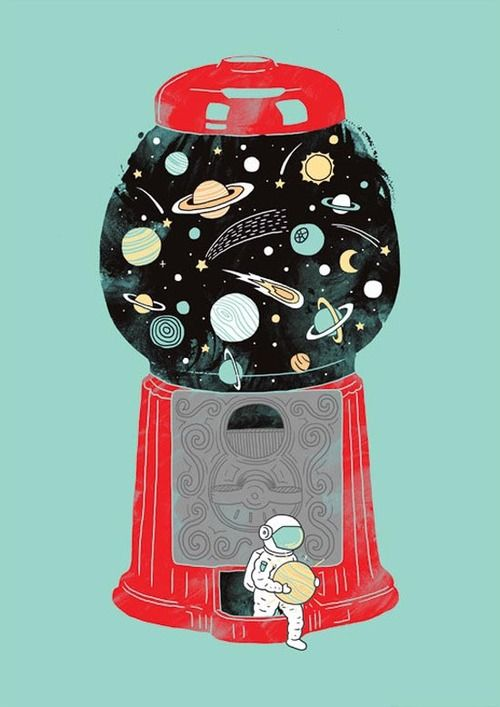 Is this how we lost Pluto? heehee - Art print by Lim Heng Swee