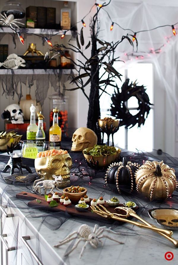 Halloween Party Table Setting Ideas From Target Halloween Table Decorations Halloween Table Halloween Hacks