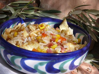 Fried Rice with Serrano Ham