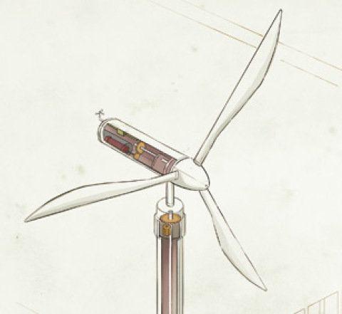 Como gerar energia eólica em casa? Fotos publicadas na revista Arquitetura & Construção.