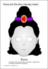 Rama and Sita story role-play masks (SB1787) - SparkleBox