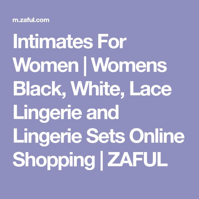 Intimates For Women | Womens Black, White, Lace Lingerie and Lingerie Sets Online Shopping | ZAFUL