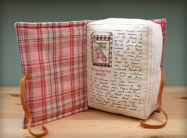 Book Pillow by PatchworkPottery, via Flickr