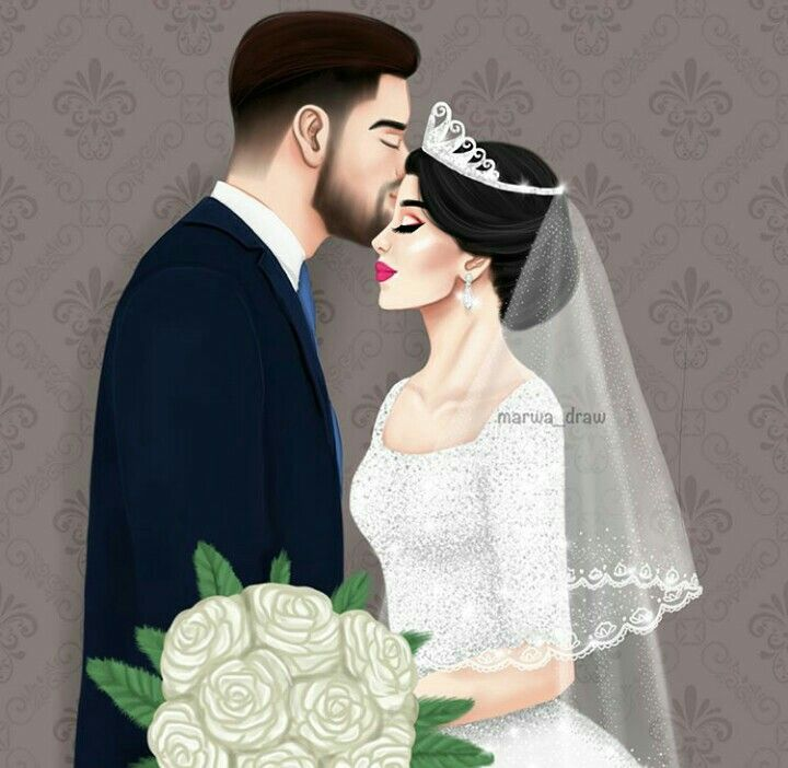 Pin By Noor Ul Ain On Dolls And Art Wedding Drawing Cute Couple Art Cartoon Girl Images
