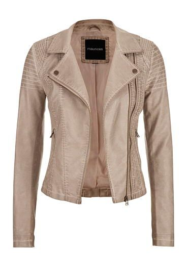 moto jacket with asymmetrical double zipper and ribbed knit sides (original price, $69) available at #Maurices