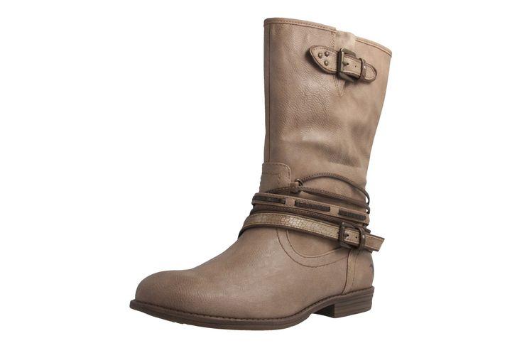 MUSTANG - Damen Stiefel - Beige Schuhe in Übergrößen – Bild 1
