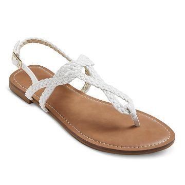 Women's Esma Braided Sandals - White - 7.5 - Merona™