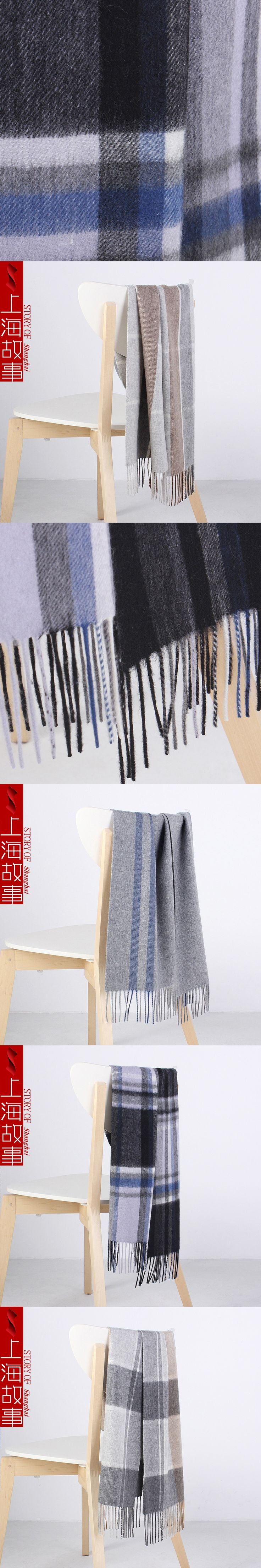 newest design stripe plaid scarves for men winter men's cashmere scarf winter thick warm business casual wrap shawls