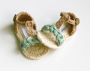 IVO Cream Gray Baby Sandals Cotton Baby Shoes Summer Baby