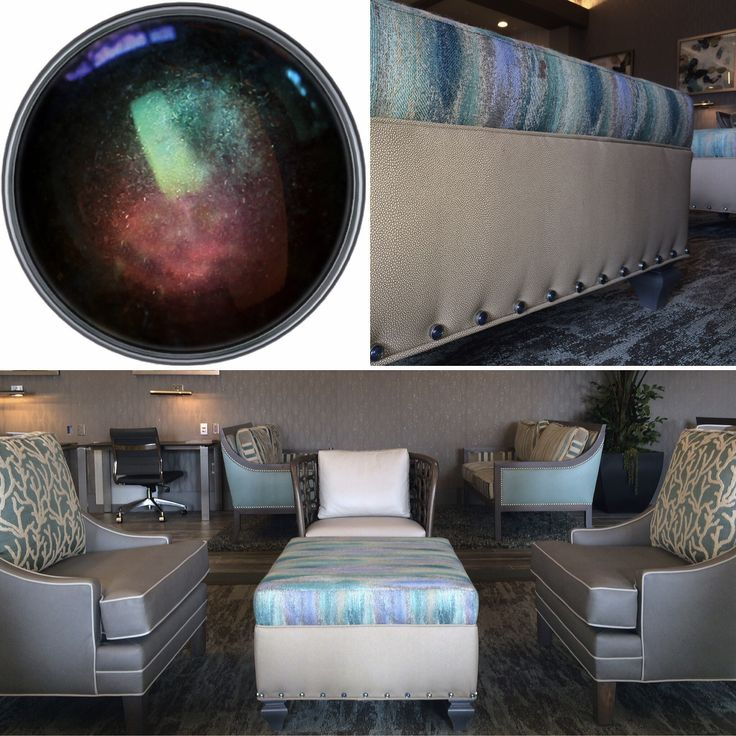 Our Abalone, the luster stone and custom made furniture at the at the San Clemente outlet VIP lounge #lusterstone #diamondheadupholsterytack #blownglass #interiordesign #custommade #all