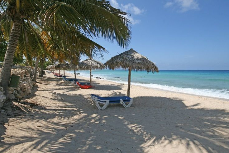 The beach at Playa Ancon near Trinidad, Cuba