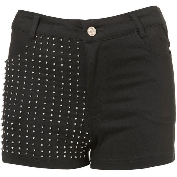 **Jordie Stud Shorts by Motel ($61) via Polyvore