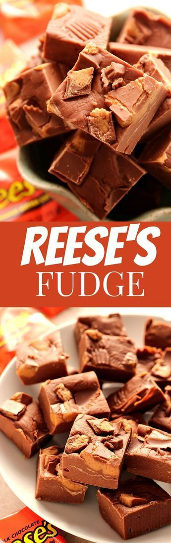"""Reese€™s Peanut Butter Cups Fudge Recipe€"""" a 3-ingredient last minute holiday fudge for chocolate and peanut butter lovers! Quick, easy and addicting! Make a small batch just for you or regular to share with friends and family!"""