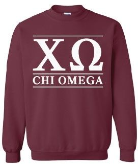 Chi Omega Sweatshirt in PINK AND THERE IS A DEADLINE TO ORDER $20