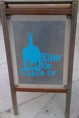 Best coffee in SF. Blue Bottle organic drip coffee.