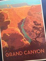 Гранд-Каньон Национальный Парк Поп-Арт Плакат Классический Урожай Ретро Крафт…