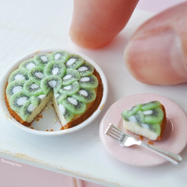 #miniature #food #minifood #kiwi #tart