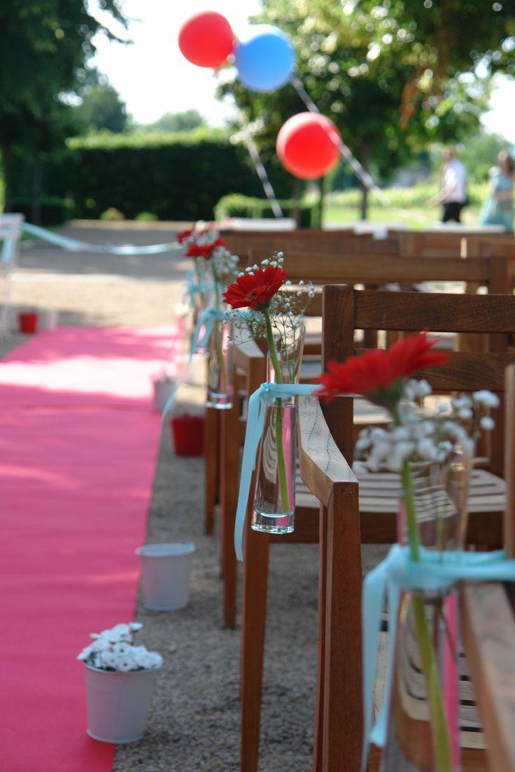 Décoration d une cérémonie laïque sur un thème champêtre