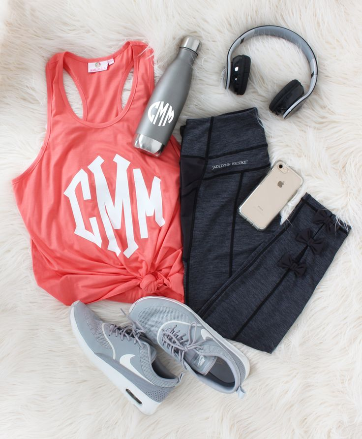 Working out is better when you look good!! Sport a Monogrammed Tank Top!