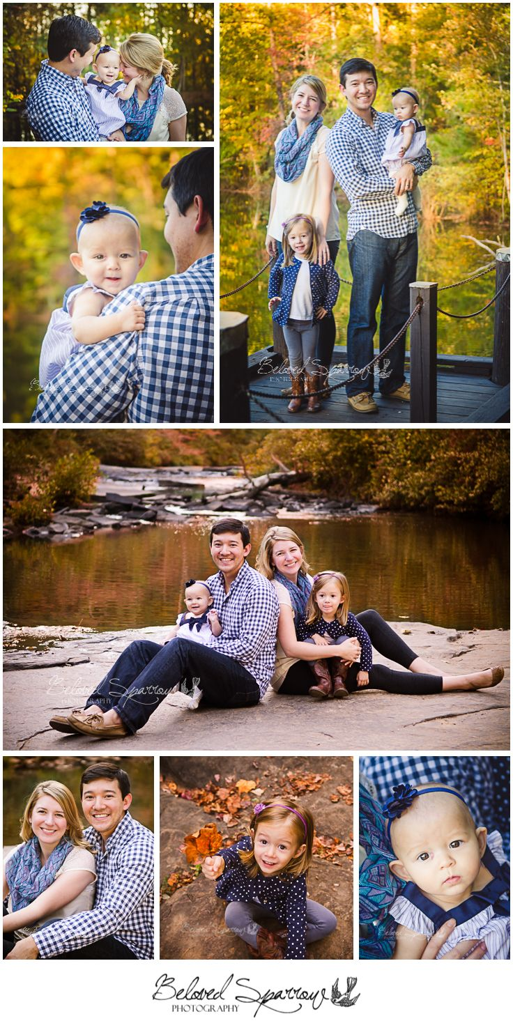 Fall Family Portrait Session | Autumn Family Portraits Family Photography with Young Children | Line Creek Nature Area | Peachtree City Professional Family Photographer www.belovedsparrow.com