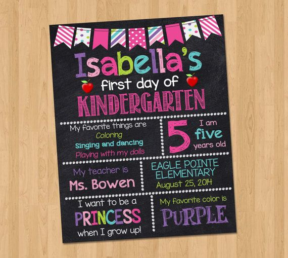 Hey, I found this really awesome Etsy listing at https://www.etsy.com/listing/199845058/first-day-of-kindergarten-sign-first-day
