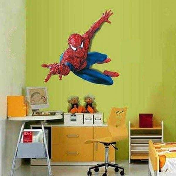 3D spiderman wall decal
