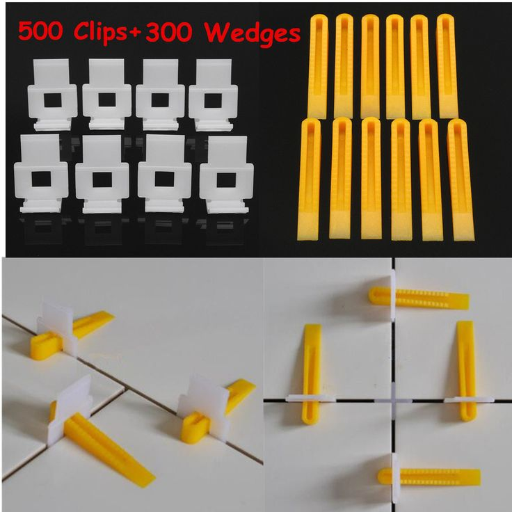 8-13mm Tile Thickness 500Pcs White Clips + 300Pcs Yellow Wedges Tile Leveling System
