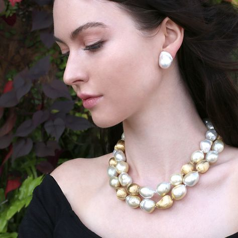 Baroque Pearl Necklace | Marissa Collections
