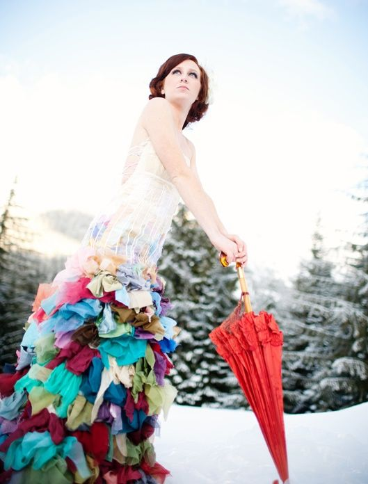 29 best my diy colorful rainbow wedding images on pinterest for Funky wedding guest dresses