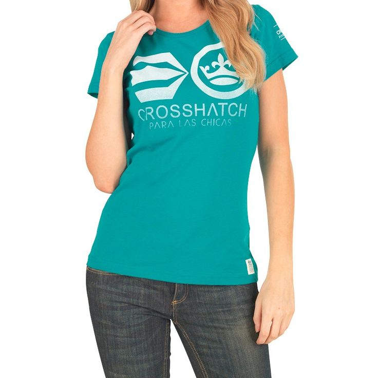 Crosshatch #WomensKacyTShirt Green Crosshatch short sleeve jersey tee. Our Price: £9.99 Retail Price: £19.99