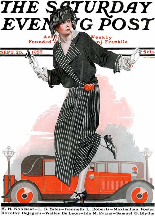 Coles Phillips - Saturday Evening Post cover (September 23, 1922)