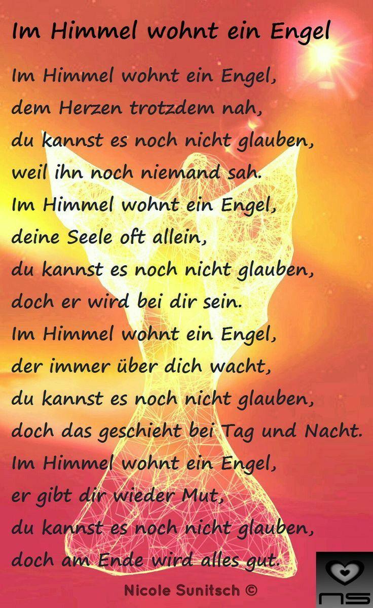 Pin von Heidi auf Trauer | Engel gedichte, Sprüche engel