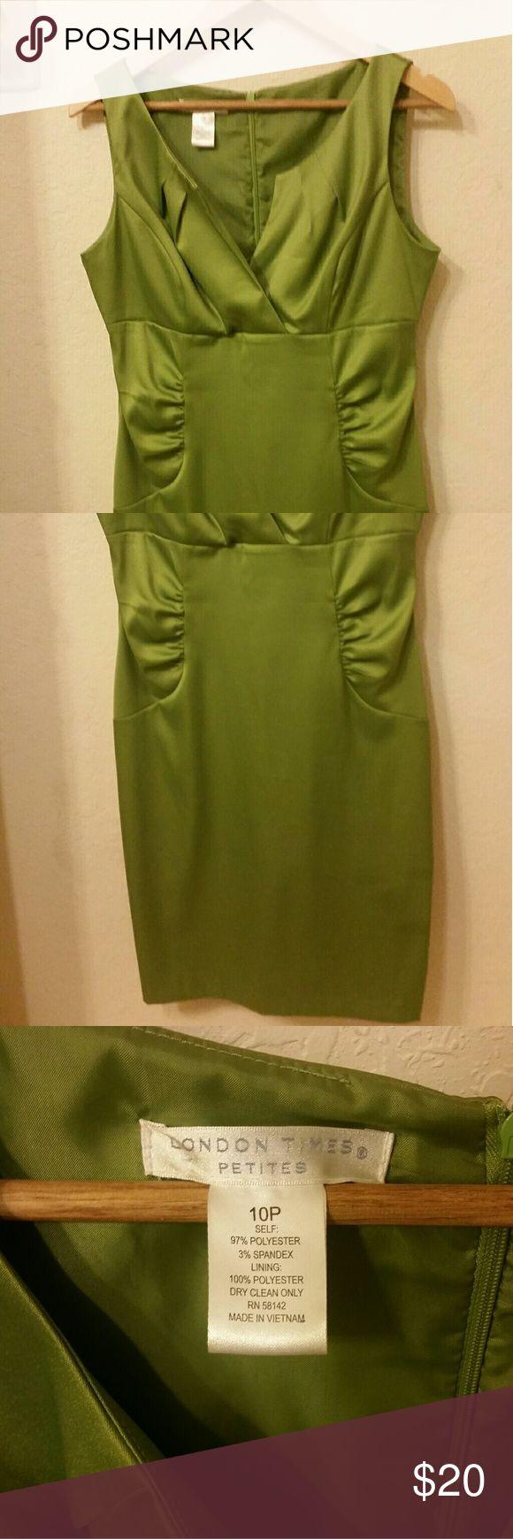 Petite Dress Cute Green Party Dress size 10P London Times Dresses