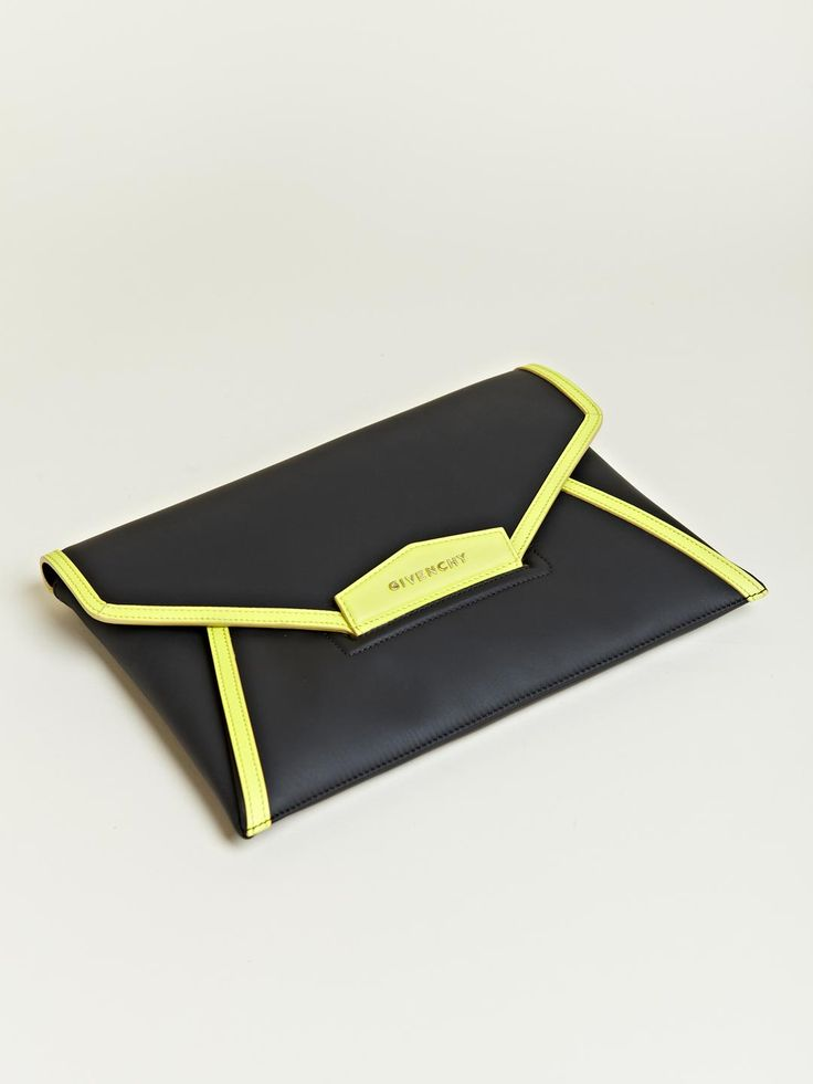Givenchy Antigona Neon Envelope ClutchHandbags Clutches And, Neon Envelopes, Givenchy Neon Black Clutches, Envelopes Bags, Givenchy Women, Antigona Neon, Clutches Givenchy Antigona, Antigona Envelopes, Envelopes Clutches Givenchy