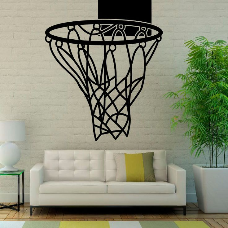 """DCTOP Basketball Nets Pattern Wall Stickers Home Decor Sport For Boys Art Vinyl Wall Decals Decoration For Bedroom  """""""