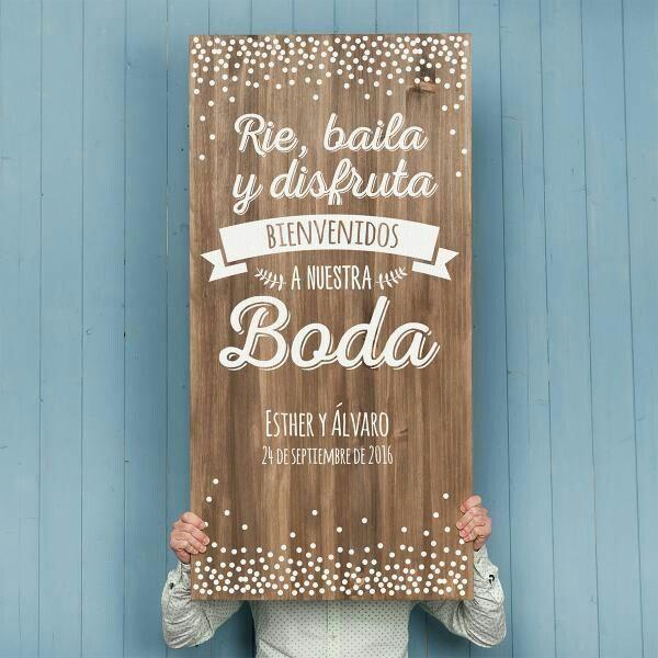 cartel de bienvenidos, boda vintage o country chic