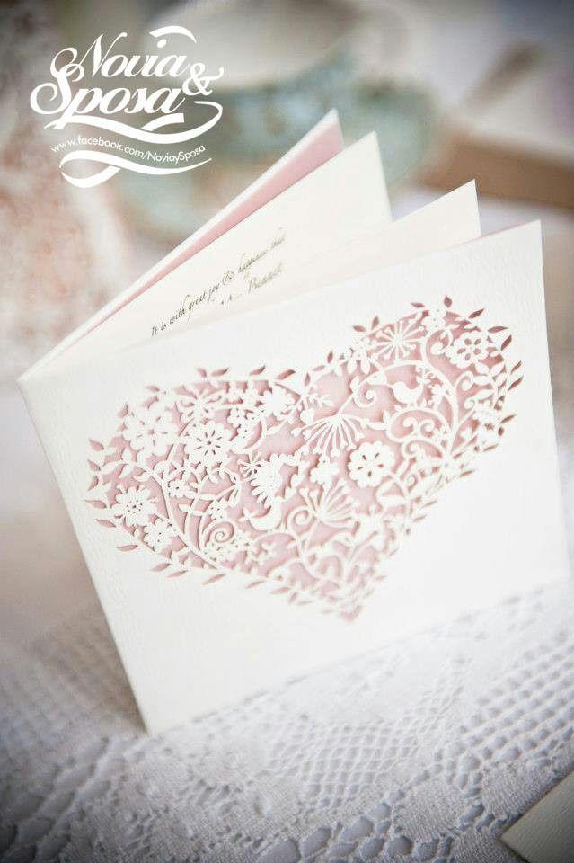 Invitacion de boda en corte laser